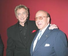 Barry Manilow and Clive Davis at the release party of Greatest Songs of the 50's.