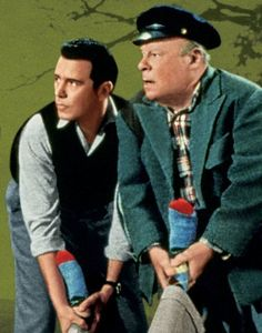Admit it--you'd fight over these socks, too. John Forsythe and Edmund Gwenn in The Trouble with Harry