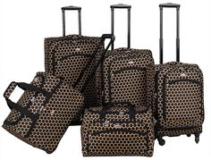 American Flyer Favo 5-Piece Spinner Luggage Set >>> Find out more about the great product at the image link.