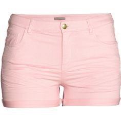 H&M+ Twill Shorts $17.99 ($18) ❤ liked on Polyvore featuring shorts, bottoms, h&m shorts, twill shorts and cuffed shorts