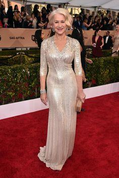 Helen Mirren in Jenny Packham. Photo: Alberto E. Rodriguez/Getty Images.