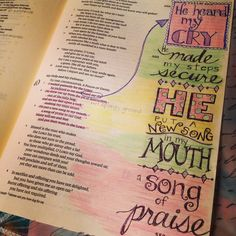 Bible journaling by Kim Knight Kreations