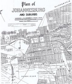 Plan of Johannesburg and suburbs 1895