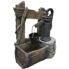water fountain (Home Depot) Ornamental Mouldings, Garden Deco, Small Ponds, Garden Fountains, Water Well, Landscaping Company, Fairy Doors, Rustic Wall Decor, Wishing Well