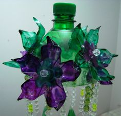 Reciclarte: PENDENTE DE GARRAFA PET
