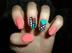 #Tribal nail art