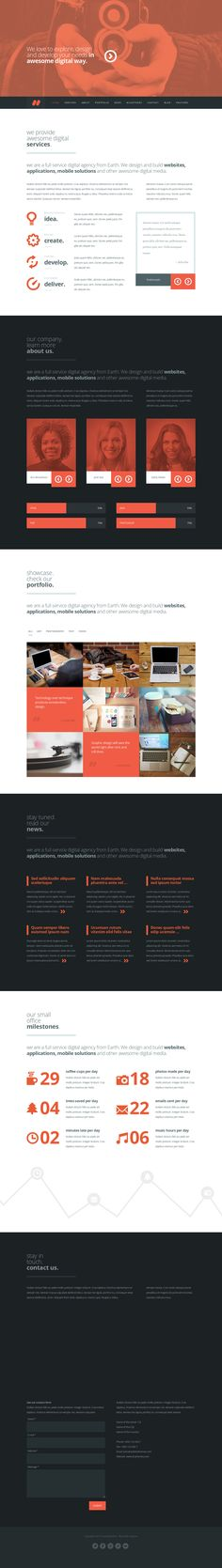 Argus from ThemeForest - a cool wordpress theme.