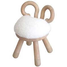 kinder MODERN Sheep Chair White ($385) ❤ liked on Polyvore featuring home, children's room, children's furniture, bar stools, modern accent chairs, white barstools, white chair, modern barstools and white modern chair