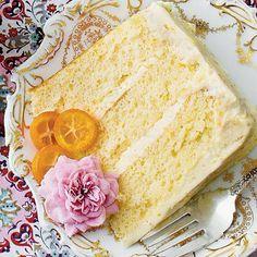 Lemon Chiffon Cake, Orange Chiffon Cake, Spring Desserts, Sweet Desserts, Orange Buttercream Frosting Recipe, Mug Cake Microwave, Cake Recipes, Dessert Recipes, Sweet Treats
