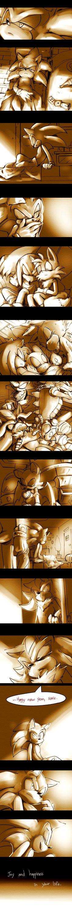 Happy new year! by Lenmeu on DeviantArt<< Silver with The Chaotix just seems right to me... I don't know. I just like this.