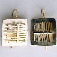 """""""filamenti"""" orecchini - argento, oro"""