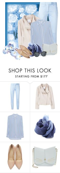"""Untitled #674"" by m-jelic ❤ liked on Polyvore featuring Dondup, MANGO, iHeart, DESTIN, Charlotte Olympia, Ted Baker and Prada"