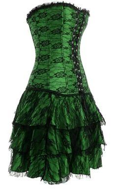 Green and Black Vampirella Dress