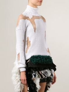 Anne Sofie Madsen distressed roll neck sweater