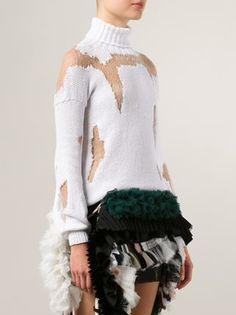 Anne Sofie Madsen distressed roll neck sweater
