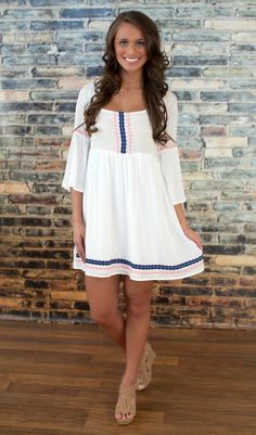 The Pink Lily Boutique - Sweeter With Time Dress White, $38.00 (http://thepinklilyboutique.com/sweeter-with-time-dress-white/)