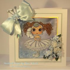 """Card made using a """"Bestie """" image by the srtist Sherri Baldy . I created the background using my Serif Graphics Program."""