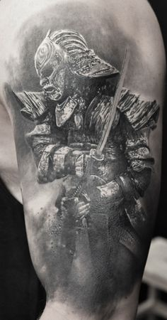 Black & Grey Tattoos By Schwarz,Photorealism. For more of his work please visit the facebook page of H.V.44 Tattoo Studio. #schwarzcraiova #photorealistictattoos Photorealism, Black And Grey Tattoos, Tattoo Studio, Statue, Facebook, Portrait, Art, Art Background, Headshot Photography