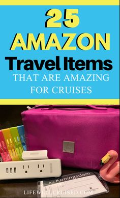 25 cruise must have items - packing essentials, cruise cabin items and pratical cruise items for the whole family. #cruise #cruisepackinglist #cruisetips