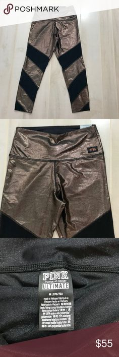 6e92b8a0d9d35 NWT Ultimate High Waist Shine Mesh Ankle Leggings Victoria's Secret PINK new  with tags ultimate high