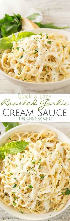 This is the ultimate cream sauce... decadently silky, creamy and full of deep roasted garlic flavor!