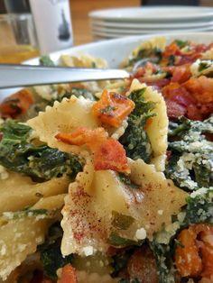 Foodie: in Minnesota: Kale, Sweet Potato, & (MINUS the bacon) Bow Tie Pasta