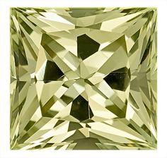 Green Beryl Loose Gemstone, Princess Cut, 12.9 x 12.7 mm, 9.57 Carats at BitCoin Gems