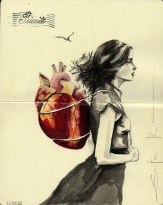 she wears her heart on her sle.....errr back.