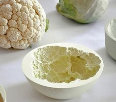 Reversed volumes are bowls that are shaped by capturing the imprint of a fruit/vegetable. The space between a vessel and a fruit/vegetable is filled with ceramics. After the original organic material is taken away, the bowl preserved the actual imprint. The surface of each fruit/vegetable is detailed represented and let's the user see it from…
