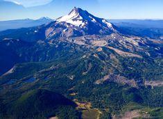 Mt. Jefferson Oregons second highest peak. From the NE side. Taken on a local flight last summer.[1300x750] [OC]   landscape Nature Photos