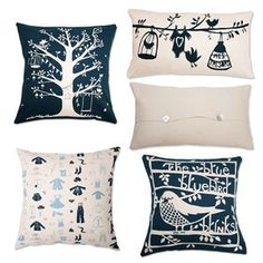 These cushions have been screen printed