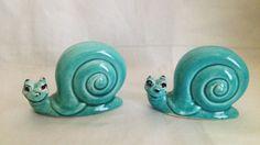 Vintage Ceramic Snail by blindcatvintage on Etsy, $5.00