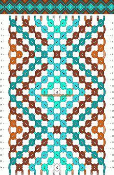 Normal Friendship Bracelet Pattern #10452 - BraceletBook.com