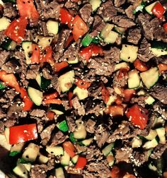 Creative Cooking: Beef Sirloin & Vegetables Sprinkled with Sesame Seeds