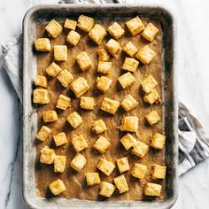 How to Cook Tofu! Our four go-to ways to prepare tofu: baked, sautéed, fried, and scrambled. Perfect for a variety of meals. YUM! #tofu #howto #vegan #vegetarian Firm Tofu Recipes, Waffles, Fries, Appetizers, Healthy Eating, Cooking Recipes, Vegan Vegetarian, Meals, Baking