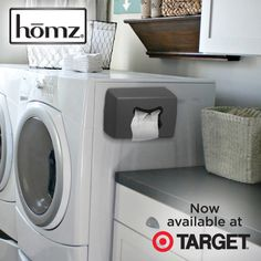 If counter & shelf space is at a premium in your laundry room, our dryer sheet dispenser fastens to your washer/dryer with magnets.  Just pop in any standard size dryer sheet box and free up some of that valuable work space!