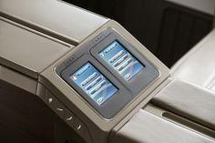 Touch Screen Seat Controls التحكم بالمقعد باللمس #First_class #B777_300ER