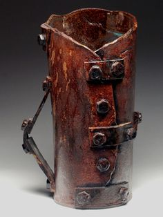 Lev Sharapan Giant Tankard  at MudFire Gallery (steampunk pottery)