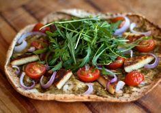 Basilikum-Pesto-Pizza