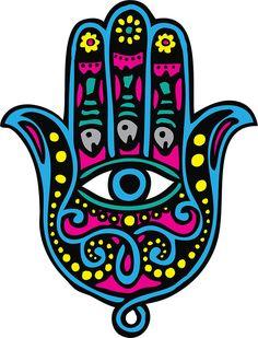Hand of Fatima/Hamsa with evil eye and fish Fatima Hand, Logo Mano, Hamsa Art, Turkish Pattern, All Seeing Eye, Free Art Prints, Jewish Art, Vector Hand, Eye Art