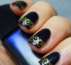 ELF ~ Dark Navy + Joby Nail Art