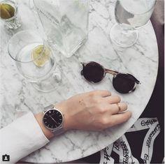The chic Zanita Whittington wears the brand new Larsson & Jennings Matte SB Zanita Whittington, Larsson & Jennings, The Chic, Minimalist Design, Watches, Unisex, Accessories, Glasses, Fashion