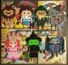Wizard of Oz perler beads by sanzosgal
