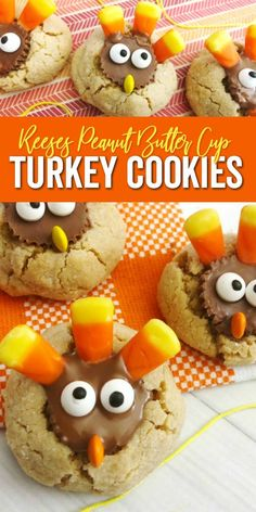 Turkey Peanut Butter Cup Cookies Recipe For Thanksgiving