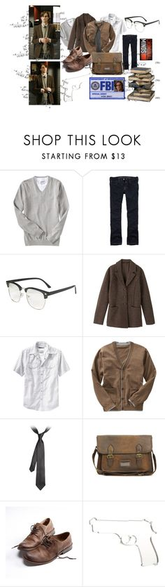 """""""Yes, I'm a genius."""" by missdiazepam ❤ liked on Polyvore featuring Old Navy, American Eagle Outfitters, John Lewis, Gap, Emporio Armani, ASOS, Glitter and Twisted, Identity, mens fashion and spencer reid"""