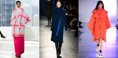 Fall 2014 Fashion Trend: Wrap Coats Boxy jackets were big for spring 2014, and designers are keeping the trend going with a longer version for colder fall temps. Throw an oversize wrap coat over a multitude of layers, or go the streamlined route and team it with slim-cut trousers and a thin turtleneck.  Delpozo, Altuzarra, Mark Fast
