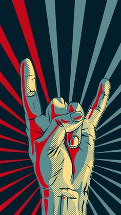 Rock Hand Gesture Sign iPhone 6 Wallpaper