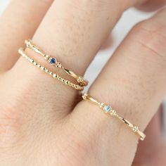 Stackable Birthstone Rings, Stackable Rings, Birthstone Jewelry, Cute Rings, Unique Rings, Sapphire Solitaire Ring, Sapphire Band, Topaz Birthstone, September Birthstone Rings