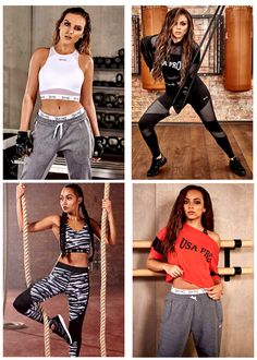 Little Mix for USA Pro Jade Little Mix, Little Mix Style, Little Mix Girls, Perrie Edwards, Jesy Nelson, Celebrity Workout Style, Sporty Outfits, Cute Outfits, Little Mix Photoshoot
