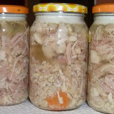 Home Made Sausage, Polish Recipes, Canning Recipes, Mason Jars, Dinner Recipes, Food And Drink, Pork, Tasty, Homemade